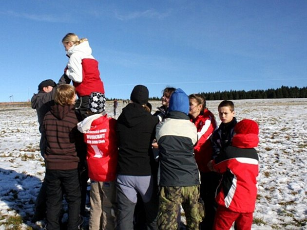 Mladí horolezci z chebské Sovy na Božím Daru
