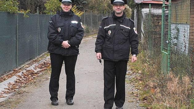 Městští policisté Cheb.