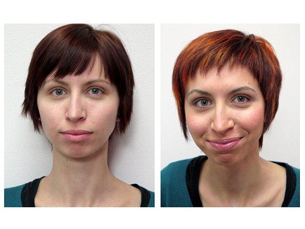 Další Proměnou sDeníkem prošla pětadvacetiletá Jana Bilencová zChebu. Největší změnou pro ni byly promelírované vlasy a ztmavené obočí. Jak potvrdila, akce vchebském StudiuM ji navnadila ktomu, aby osebe opět začala pečovat.