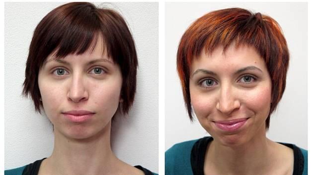 Další Proměnou s Deníkem prošla pětadvacetiletá Jana Bilencová z Chebu. Největší změnou pro ni byly promelírované vlasy a ztmavené obočí. Jak potvrdila, akce v chebském StudiuM ji navnadila k tomu, aby o sebe opět začala pečovat.