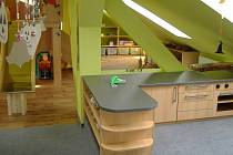 Interiér mateřské školky ve Skalné