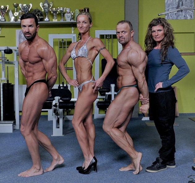 Pavel Csorba, Gabriela Gabrielová - oba ze Sportcentra Cheb, Vladimír Holub z Jařest Cheb a Jana Stöckelová - trenérka ze Sportcentra Cheb (zleva)