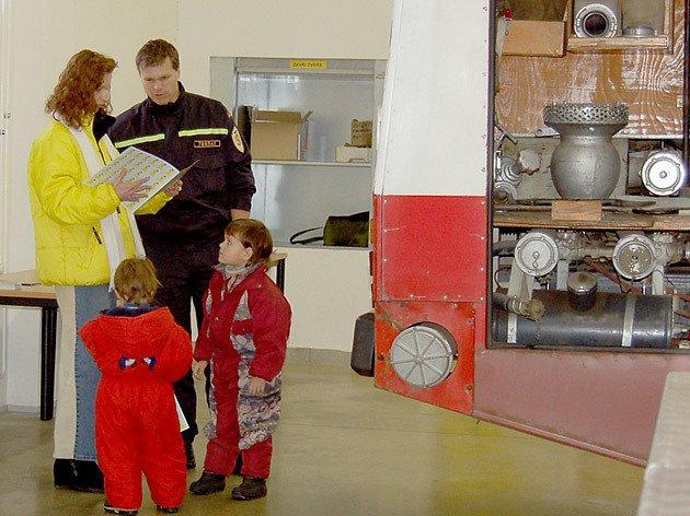 Největší zájem o hasičskou zbrojnici v Mariánských Lázních měli děti