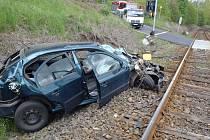 Nehoda na kolejích.