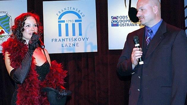 Jitka Čvančarová v rozhovoru s františkolázeňským starostou Ivo Mlátilíkem