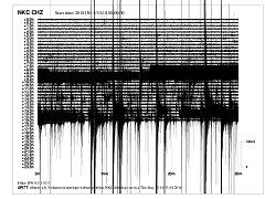 Takto vypadá záznam nového zemětřesení z dnešního dne ze seismografu v Novém Kostele.