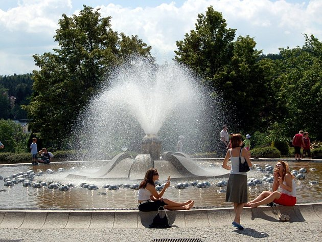 Zpívající fontána, symbol Mariánských Lázní