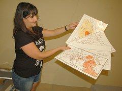 JANA DOUBRAVOVÁ z Geofyzikálního ústavu v Praze představila, jaké tabulky se objeví v nové expozici ve Skalné.