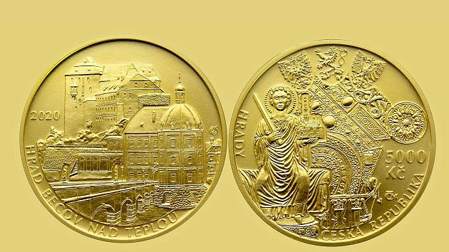 Pamětní minci získal hrad Bečov. V příštím roce to bude Cheb.