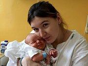 JAKUB KABZAN se poprvé rozkřičel v sobotu 23. ledna v 1.50 hodin. Na svět přišel s váhou 3050 gramů a mírou 48 centimetrů. Dvouletý Milánek, maminka Darina a tatínek Milan se radují z malého Jakoubka doma v Lázních Kynžvartu.