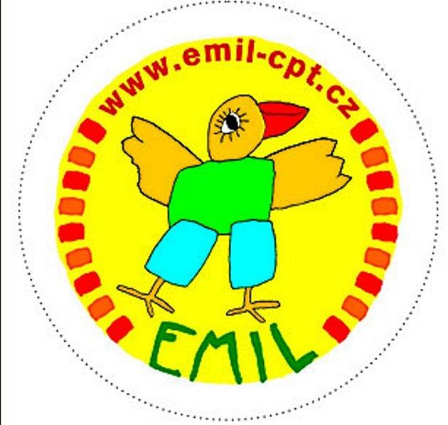 Logo ptáka Emila