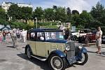 Sraz historických vozidel v Mariánských Lázních