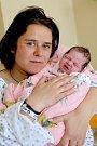 ELIŠKA LOJDOVÁ bude mít v rodném listě datum narození čtvrtek 6. dubna v 7.14 hodin. Na svět přišla s váhou 2 920 gramů. Z malé Elišky se raduje doma v Aši sestřička Adrianka spolu s maminkou Marií a celou rodinou.