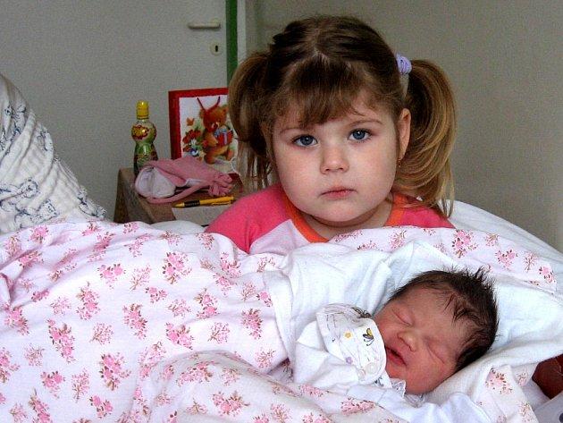 ADÉLKA JARINOVÁ přišla na svět 20. listopadu ve 3.40 hodin. Vážila 3,1 kilogramu a měřila 48 centimetrů. Do porodnice se na ní přišla podívat sestřička Vendulka. Doma se na ní ještě těší bráška Jára