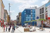 Pěší zóna v Chebu po rekonstrukci