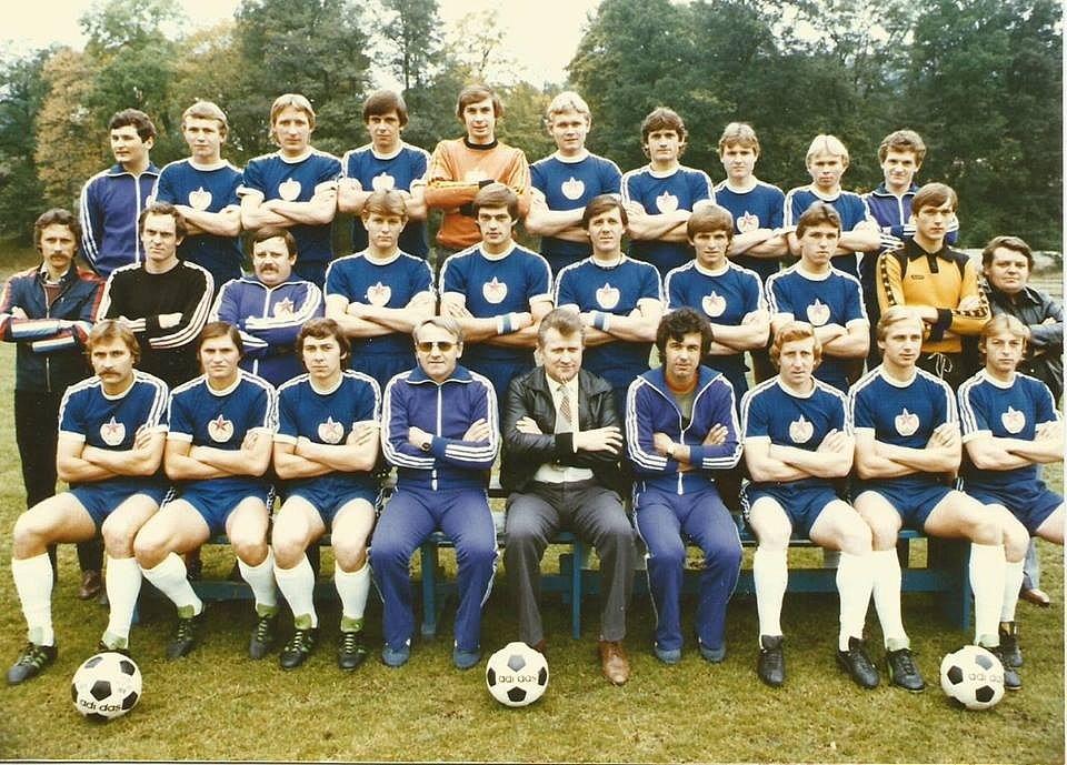 Rudá hvězda Cheb ze sezony 1980/1981.