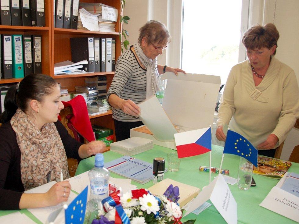ÚDEREM sobotní 14. hodiny nebylo v Pomezí nad Ohří po krajských volbách ani památky. Komisaři museli veškeré související materiály uklidit. Na místě ale zůstali, do 22 hodin bylo možné volit do obecního zastupitelstva.