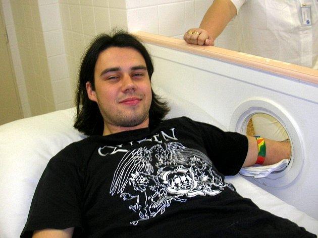 Mladý dárce krve z Chebu