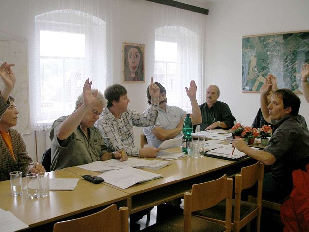 Jednání nového zastupitelstva v Hranicích u Aše