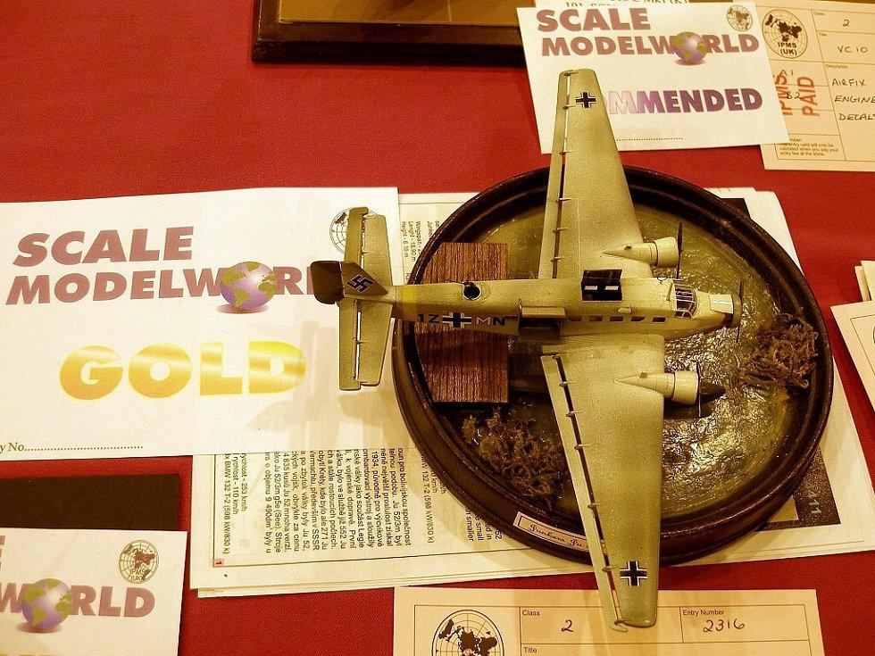 Zlatou medaili v kategorii detail kit 1:144 senioři získa Michael Kaplan s modelem Junkers Ju 52