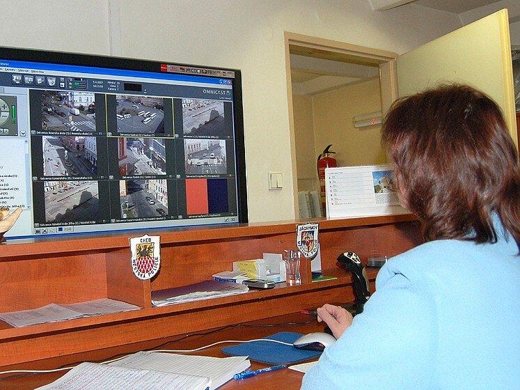 Centrum města Chebu je pod neustálým dohledem kamer bezpečnostního systému