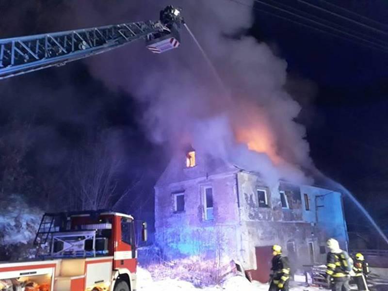 Požár ve Vojtanově.