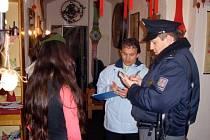 Kontrola v jedné z mariánskolázeňských restaurací