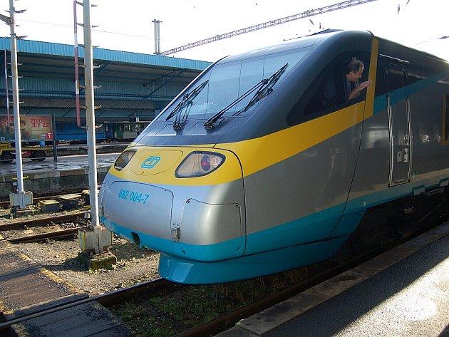 Pendolino na chebském nádraží.