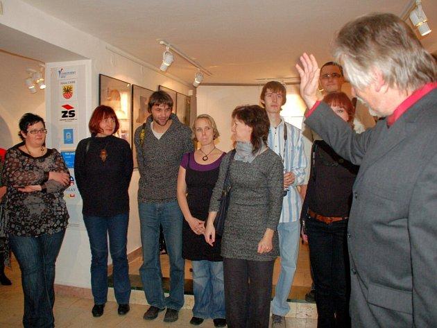Slavnostní vernisáž poslední letošní výstavy v chebské galerii G4