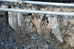 Unikátní, přibližně sto let starou cestu z kamenů se podařilo odkrýt pracovníkům, kteří v ašské ulici Janáčkova opravovali silnici.