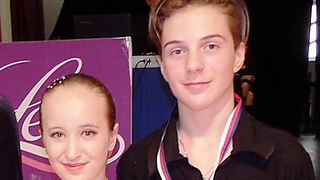 Tanečníci Eliška Sýkorová a Rostislav Hrbek.