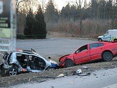 K vážné nehodě došlo na silnici 1/27.