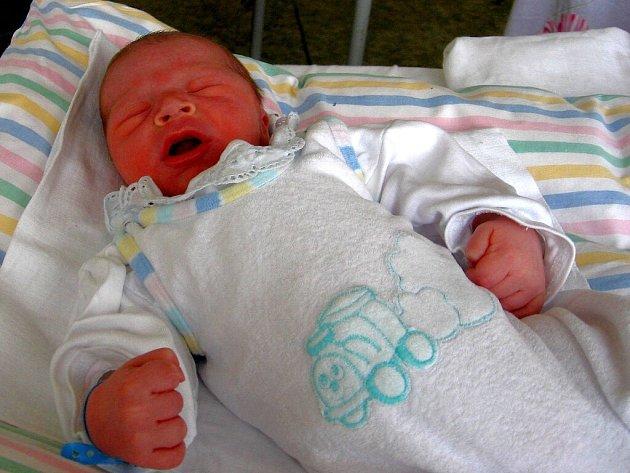 JAN PRŮCHA z Hazlova se narodil v chebské porodnici 12. února v 5.05 hodin. Měřil 52 centimetrů a vážil 3,65 kilogramu