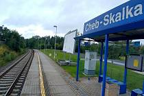 Ženu srazil vlak nedaleko železniční zastávky Cheb - Skalka.