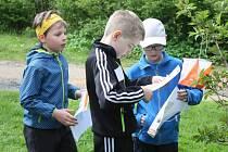 Dítka školou povinná si vyzkoušela orientační běh.