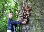 Díky školákům se část lesa u chebské vyhlídky Egerwarte stala místem, které je galerií v přírodě, a láká tak lidi k návštěvě.  Je na co se dívat.