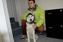 Chovatel Karel Pfeifer a sibiřský husky Jack.
