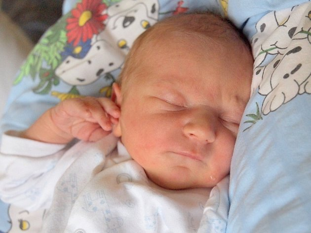 VOJTĚCH EBERLE se poprvé rozkřičel v neděli 9. června v 20.35 hodin. Na svět přišel s váhou 3 320 gramů a mírou 50 centimetrů. Maminka Kateřina a tatínek Karel se radují z malého Vojtíška doma v Mariánských Lázních.