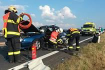 Dopravní nehoda v sobotním podvečeru ochromila dopravu na silnici I/21 u Františkových Lázní.