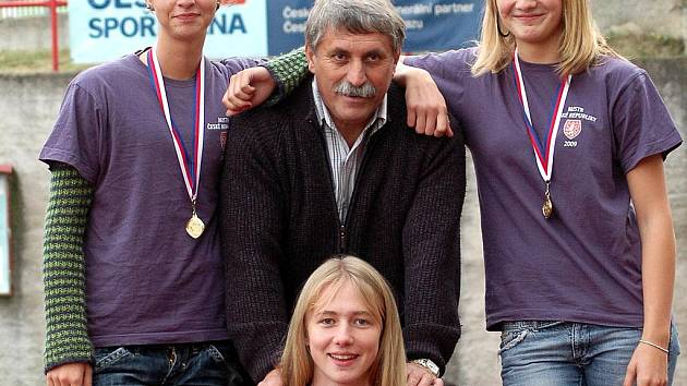 Mistryně České republiky s trenérem Jackem Přibáněm.