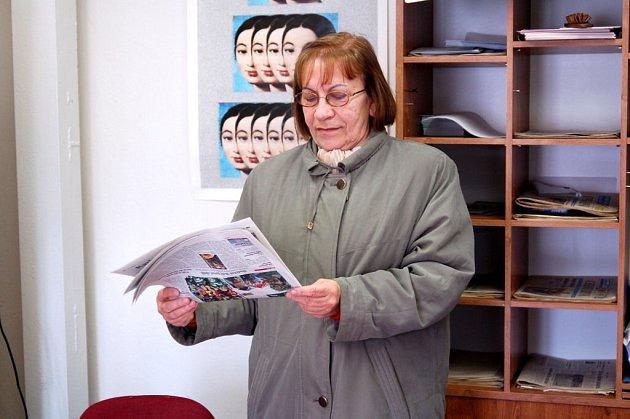 Držitelka Křesadla Anna Hirtová z Chebu
