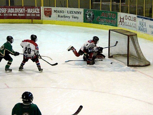 Hokejové utkání žáků 6. tříd HC Mariánské Lázně - HC Draci Bílina skončilo vitězstvím Mariánskolázeňských 8:6.
