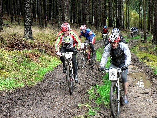 Říjnový závod Domo bike v Poustevně na Sorkově