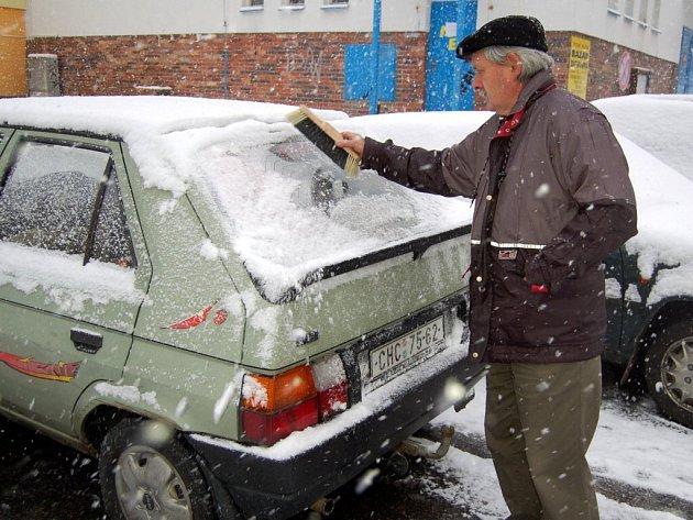 První sníh na Chebsku
