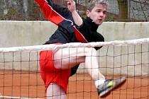 Radek Ulmon z ašské Jiskry přispěl k vítětství svého týmu nad Táborem dvěma body.