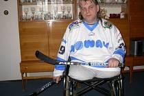 Chebský sledgehokejista Miroslav Hrbek