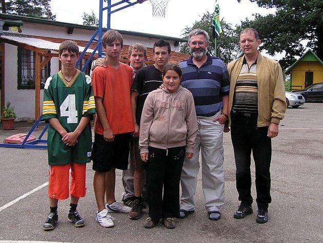 Mladí sportovci se zástupci zřizovatele