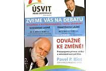 Leták politického hnutí Úsvit přímé demokracie obsahuje pravopisnou hrubku.