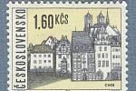 ZNÁMKA se siluetou městských dominant z roku 1965.