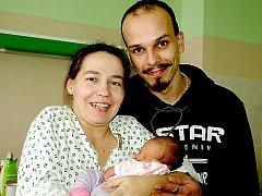 KRISTÍNA MALINOVÁ bude mít v rodném listě datum narození úterý 25. ledna v 10.56 hodin. Při narození vážila 3000 gramů a měřila 48 centimetrů. Doma v Hranicích se z malé Kristínky raduje maminka Bohumila spolu s tatínkem Ladislavem.